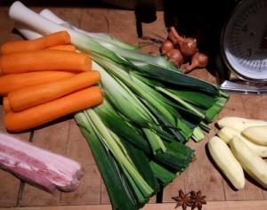 Ingrédients pour soupe